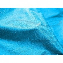 Deep sky blue D005 Silk Dupioni Fabric