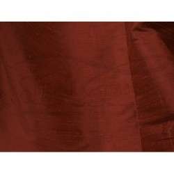 Burnt umber D066 Silk Dupioni Fabric