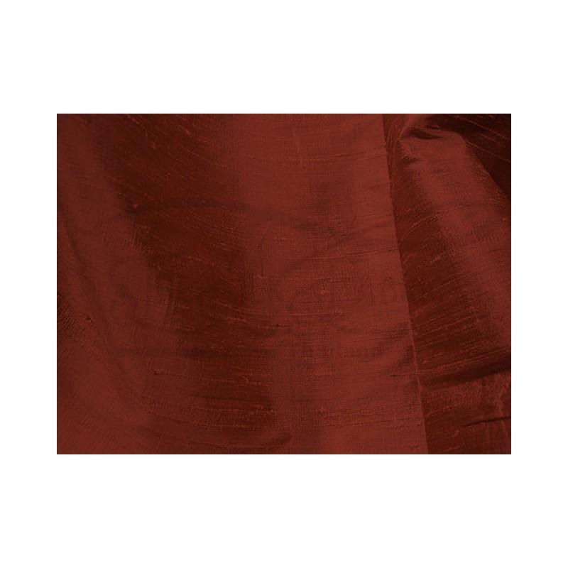 Burnt umber D066 Silk Dupioni Fabric