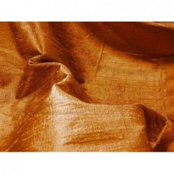 Golden Brown D073 Silk Dupioni Fabric