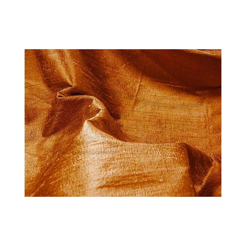 Golden Brown D073 Silk Dupioni Fabric