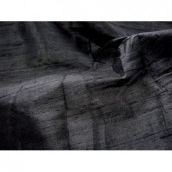 Black D145 Silk Dupioni Fabric