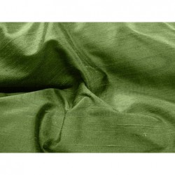 Dark olive green D170 Silk Dupioni Fabric