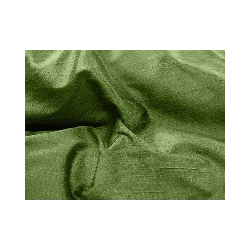 Dark olive green D170 Silk Dupioni Fabric