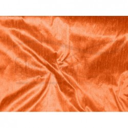Deep carrot orange D249 Silk Dupioni Fabric