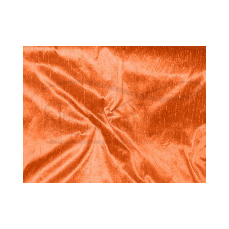 Deep carrot orange D249 Silk Dupioni Fabric