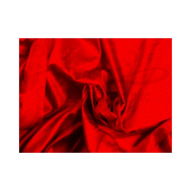 Red D335 Silk Dupioni Fabric