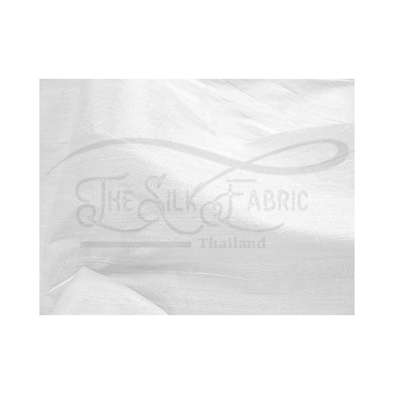 White D440 Silk Dupioni Fabric