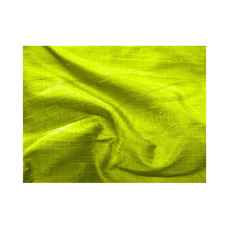 Lemon lime D456 Silk Dupioni Fabric