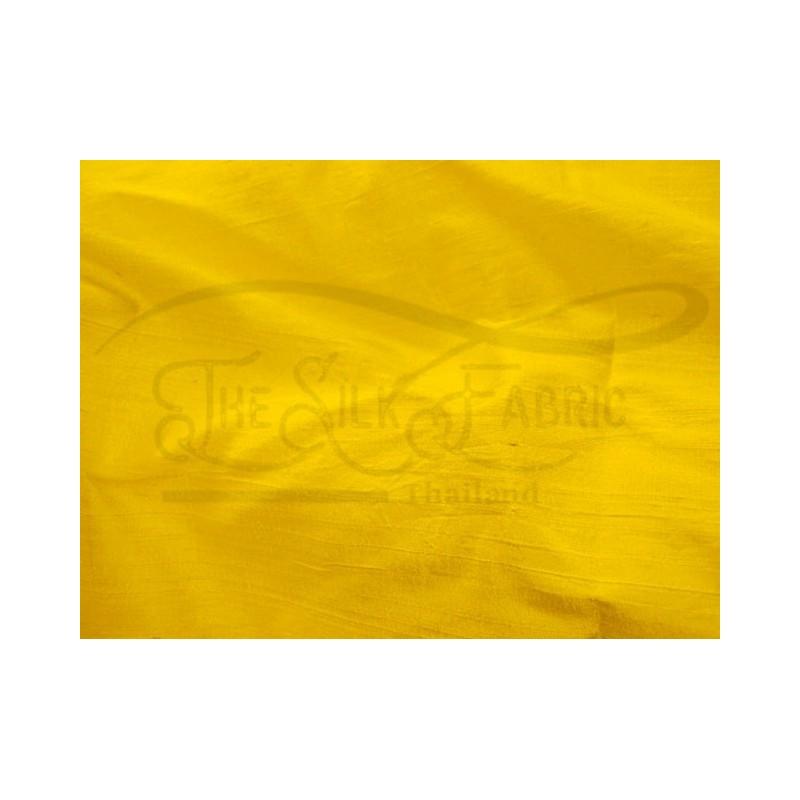 School bus yellow D459 Silk Dupioni Fabric