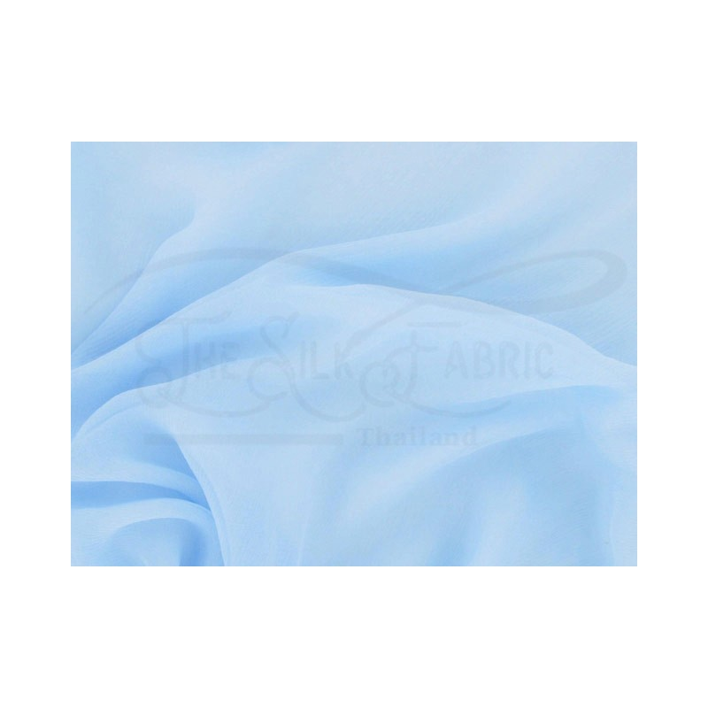 Blizzard blue C001 Silk Chiffon Fabric