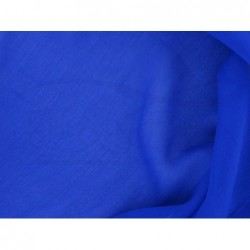 Cerulean blue C002  Silk Chiffon Fabric