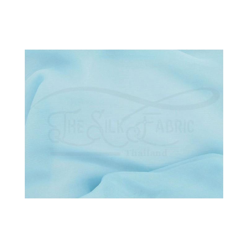 Light steel blue C004  Silk Chiffon Fabric
