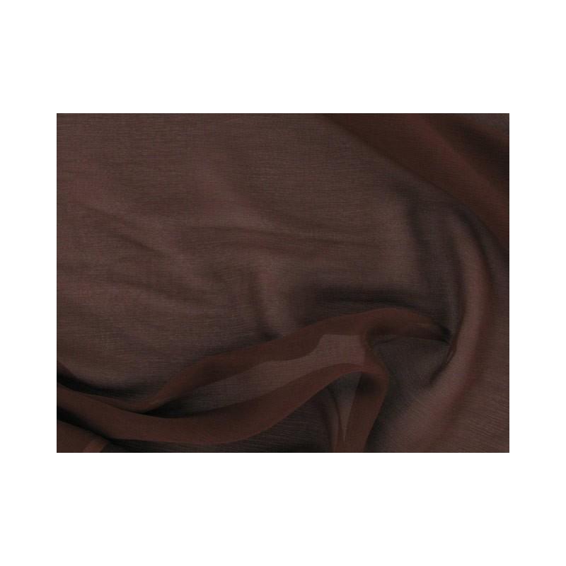 Walnut C015  Silk Chiffon Fabric