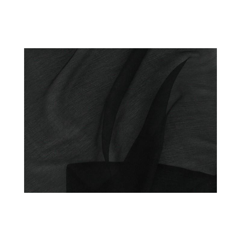 Black C037  Silk Chiffon Fabric