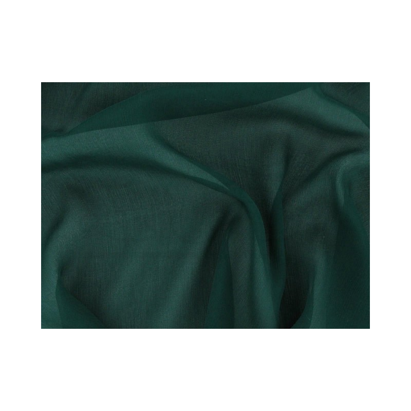 Dark green C049  Silk Chiffon Fabric