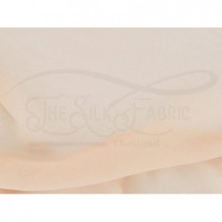 Apricot peach C064  Silk Chiffon Fabric