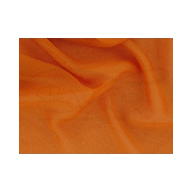 Orange roughy C067  Silk Chiffon Fabric