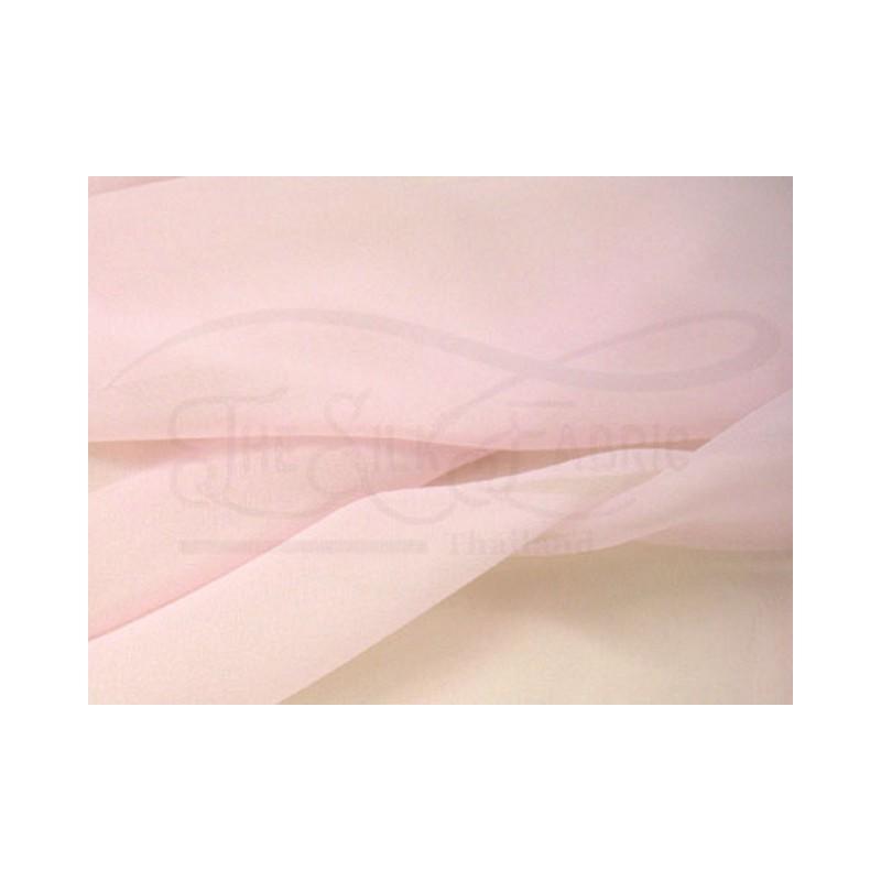 Baby pink C077  Silk Chiffon Fabric