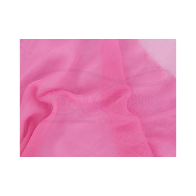 Deep blush C078  Silk Chiffon Fabric