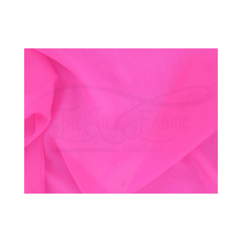 Hot pink C079  Silk Chiffon Fabric
