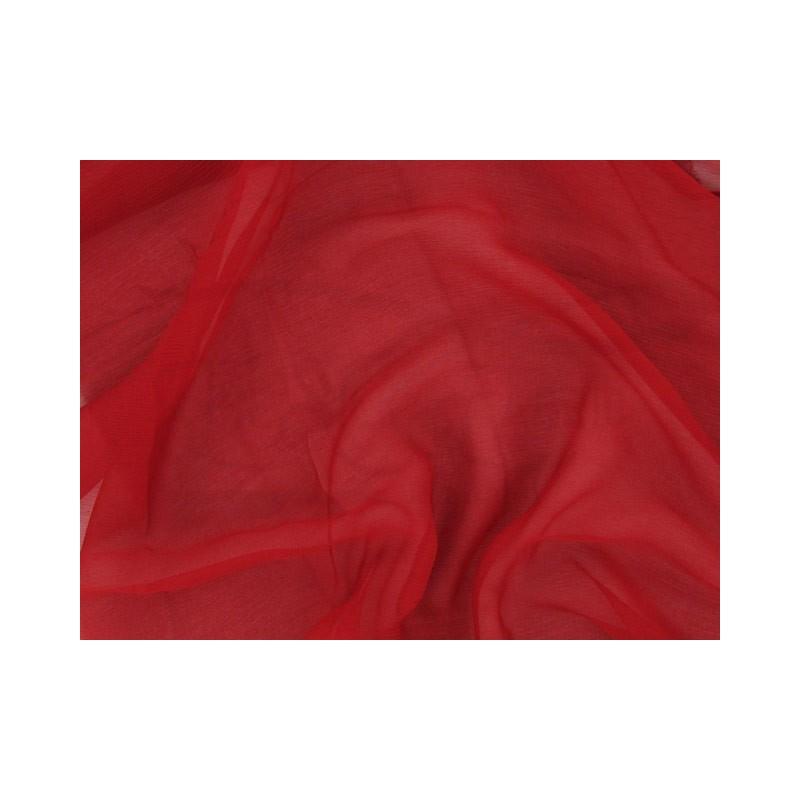 Firebrick C092  Silk Chiffon Fabric