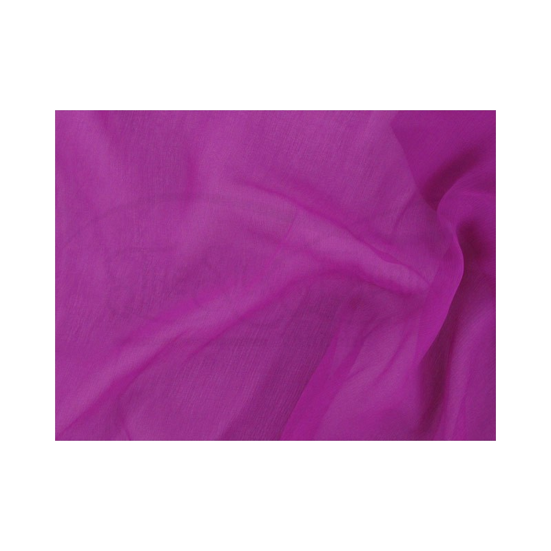 Plum C105  Silk Chiffon Fabric