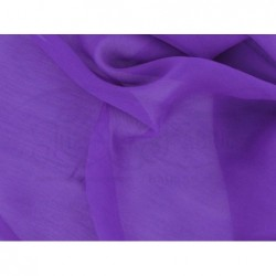 Royal purple C106  Silk Chiffon Fabric