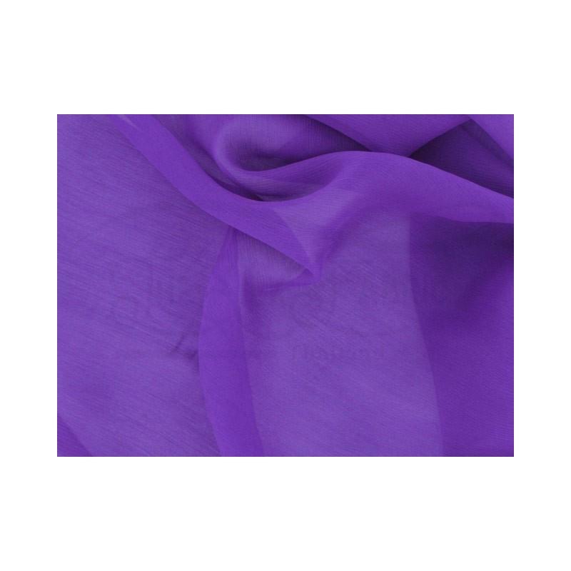 Royal purple C106  Silk Chiffon Fabric
