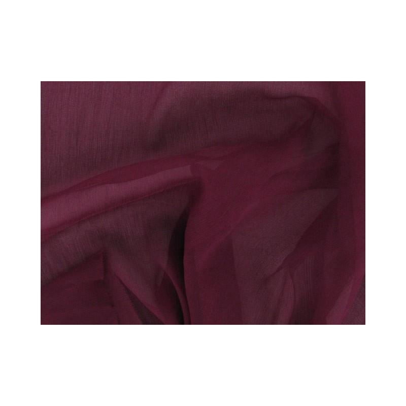 Wine berry C108  Silk Chiffon Fabric