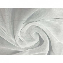 White off C119  Silk Chiffon Fabric