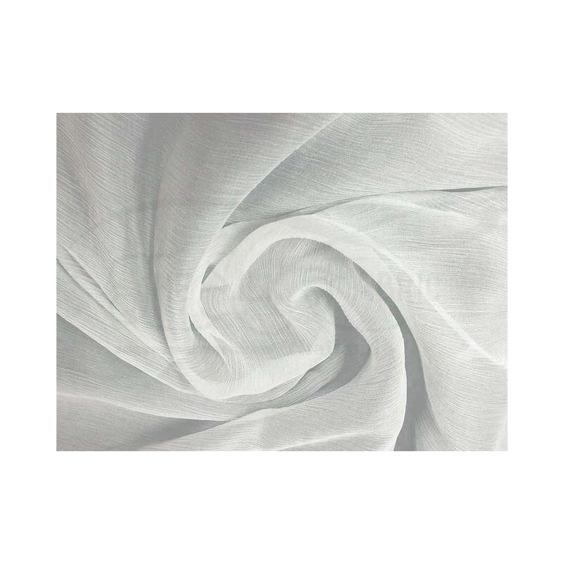 White off C119  Silk Chiffon Fabric