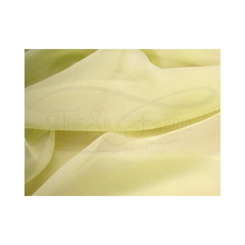 Pale goldenrod C131  Silk Chiffon Fabric