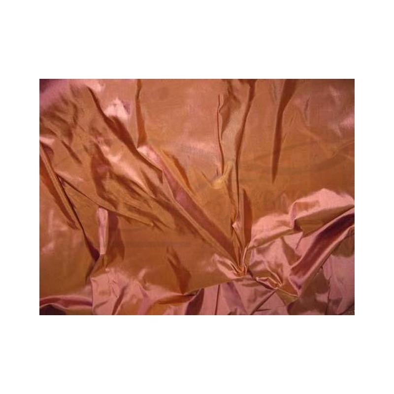 Brown Rust T066 Silk Taffeta Fabric