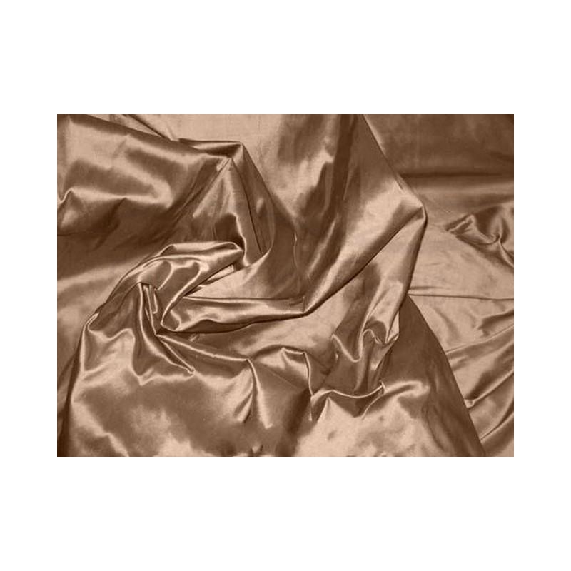 Coffee T075 Silk Taffeta Fabric
