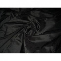 Black T148 Silk Taffeta Fabric