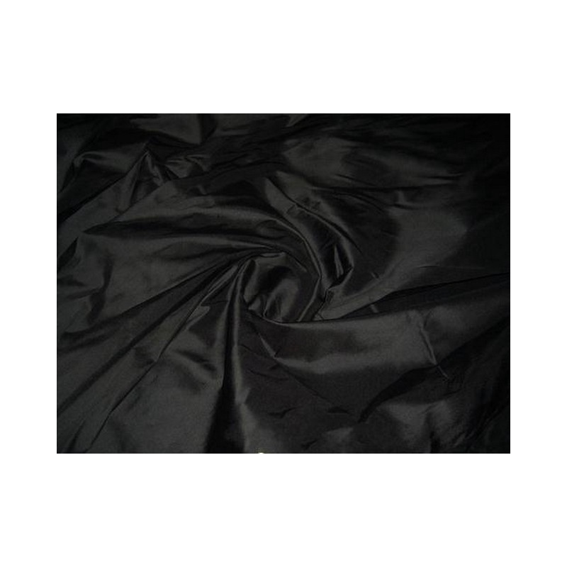 Black T148 Silk Taffeta Fabric