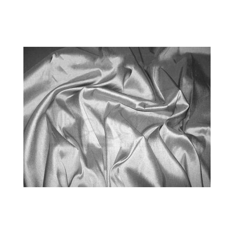 Gray T154 Silk Taffeta Fabric
