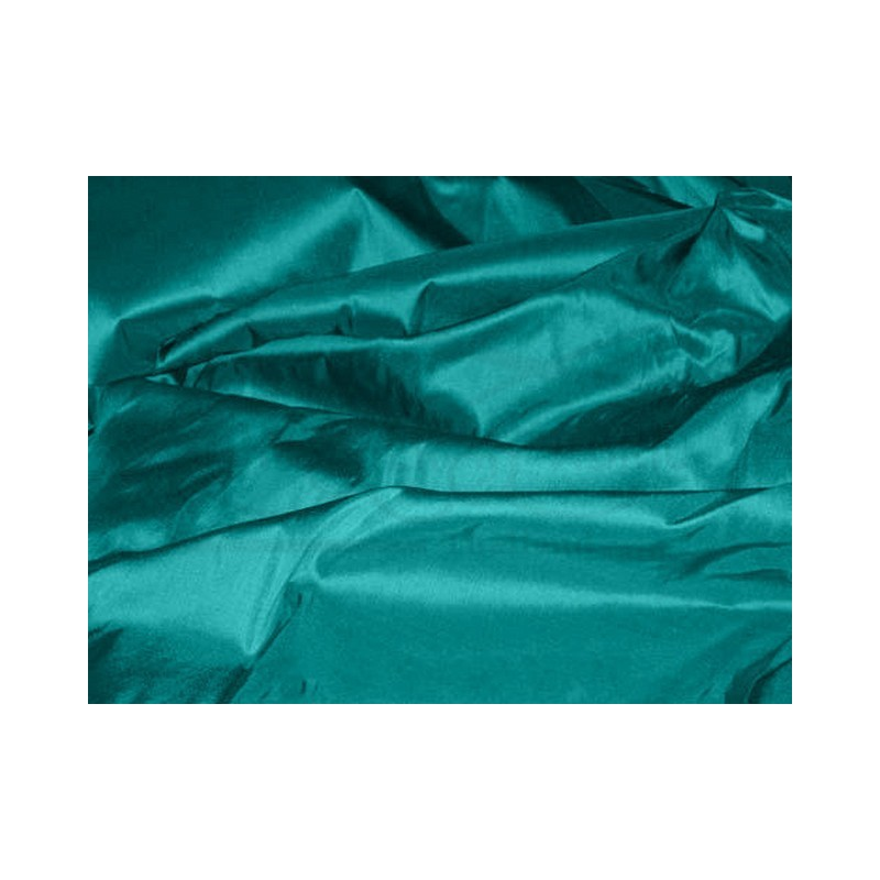 Teal T200 Silk Taffeta Fabric