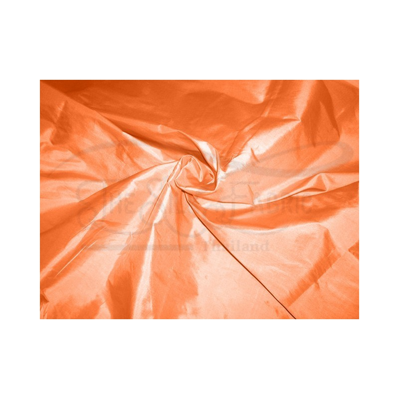 Deep carrot orange T251 Silk Taffeta Fabric