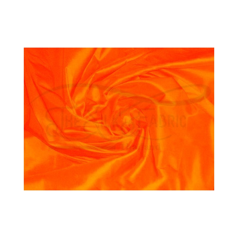 International orange T252 Silk Taffeta Fabric