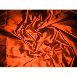 Orange red T255 Silk Taffeta Fabric