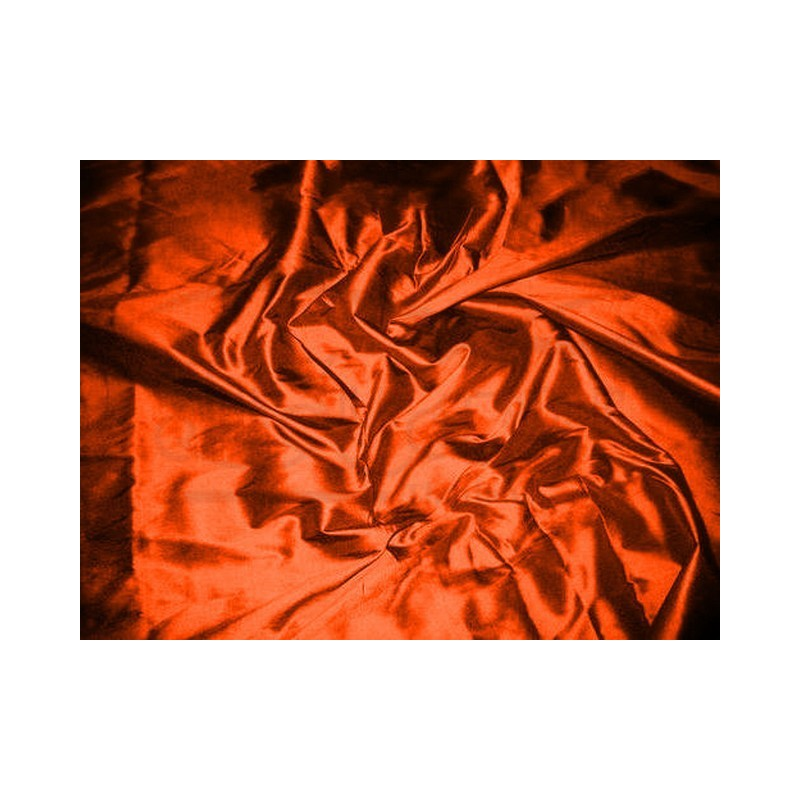 Orange red T255 Silk Taffeta Fabric