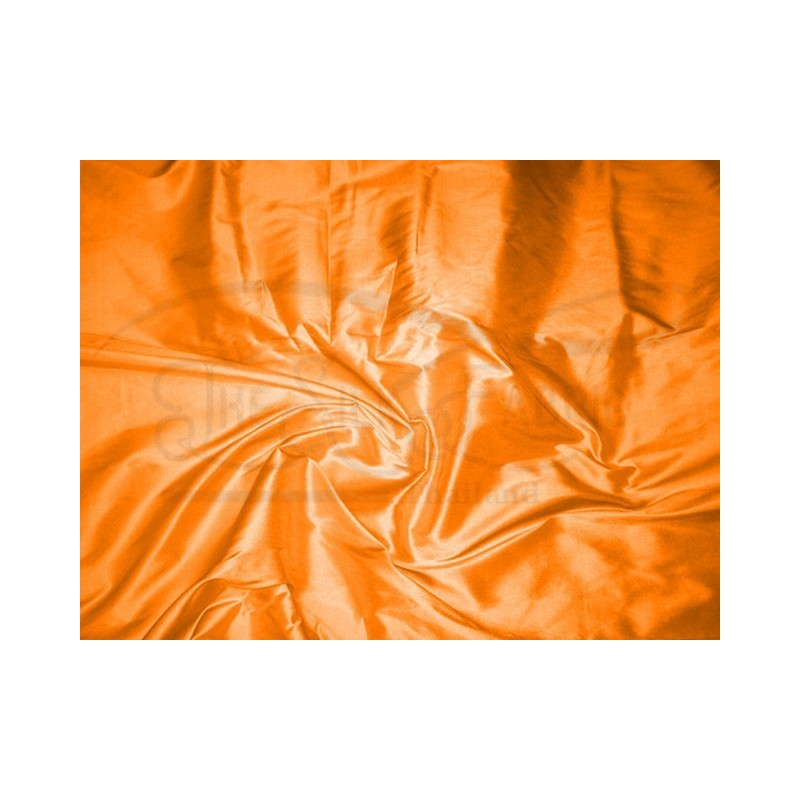 Safety orange T263 Silk Taffeta Fabric