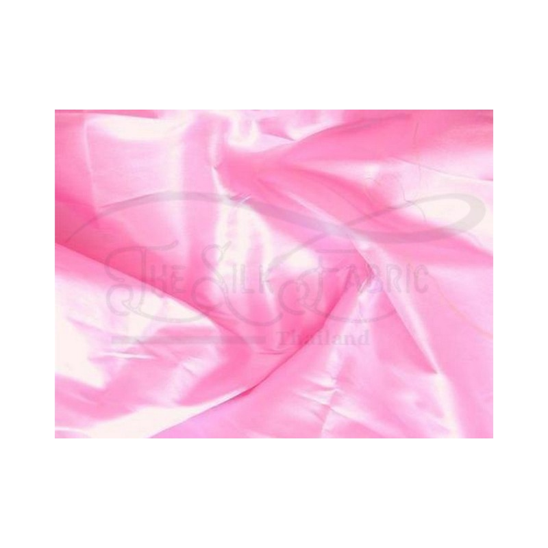 Carnation Pink T298 Silk Taffeta Fabric