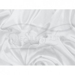 Anti-flash white off T433 Silk Taffeta Fabric