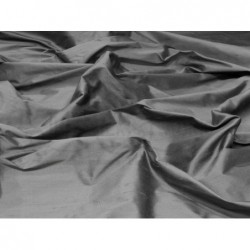 Dark Silver S146 Silk Shantung Fabric