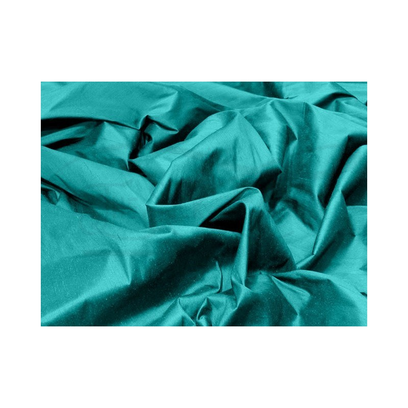 Teal S187 Silk Shantung Fabric