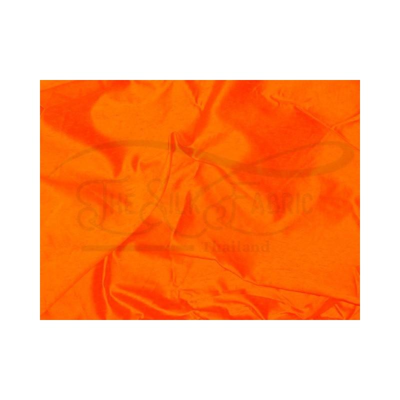 International orange S251 Silk Shantung Fabric