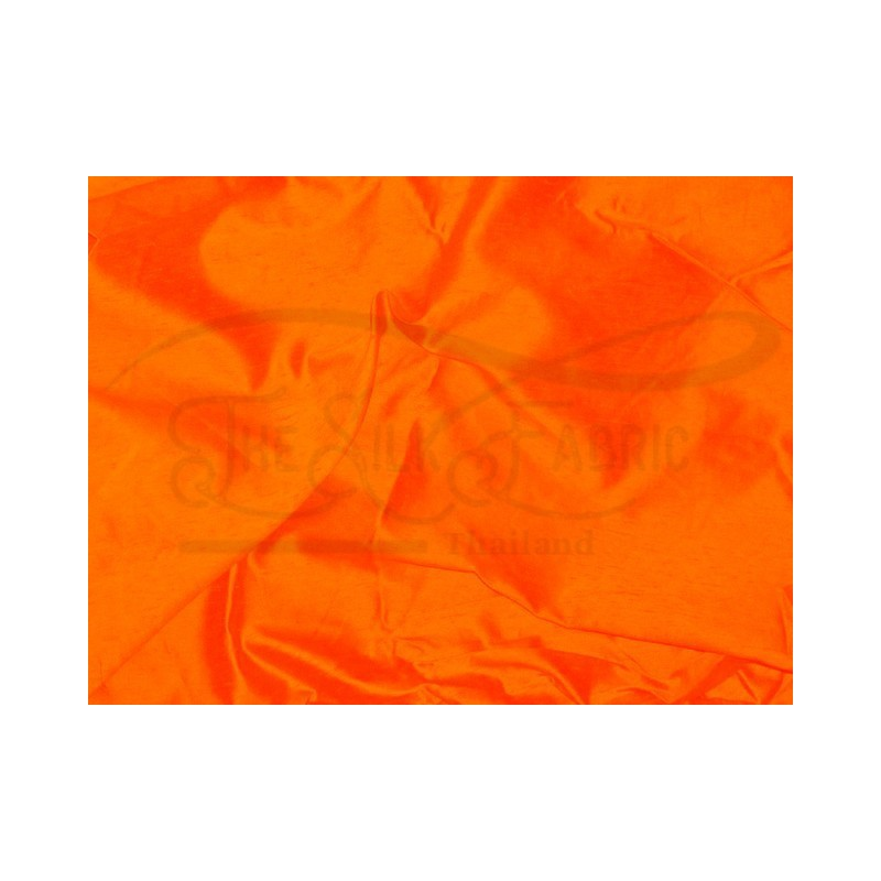 International orange S251 Silk Shantung Fabric